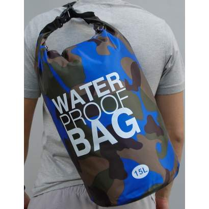 Water proof Dry bag 15L military tamno plavi