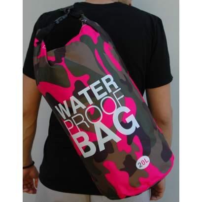Water proof Dry bag 20L miitary roze